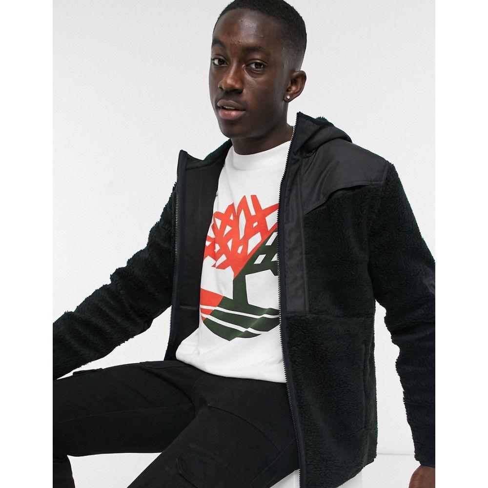 ティンバーランド モデル着用 注目アイテム メンズ トップス フリース Black サイズ交換無料 Fleece Faux Shear Timberland 送料無料でお届けします Jacket