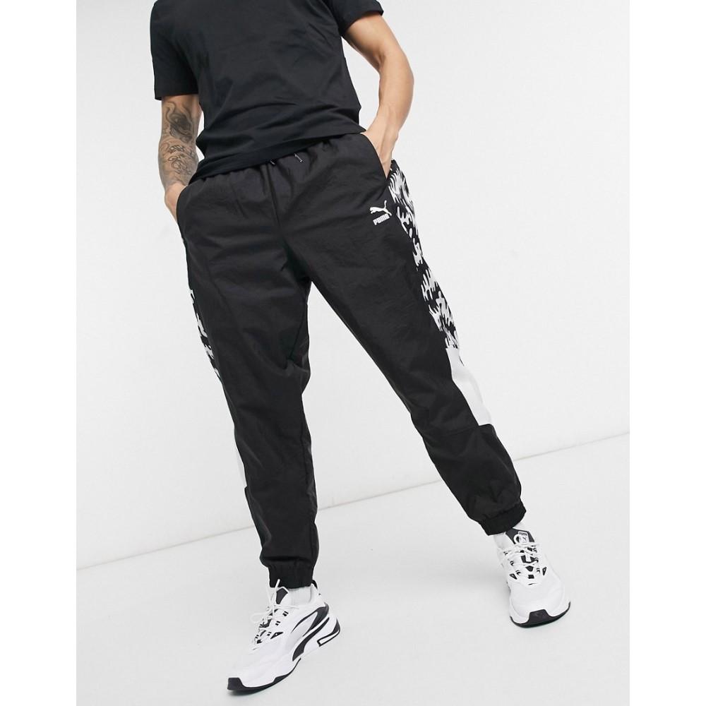 プーマ メンズ ボトムス パンツ ジョガーパンツ Puma black サイズ交換無料 Tfs 買物 All Pants Black Over Track In 専門店 Og Print