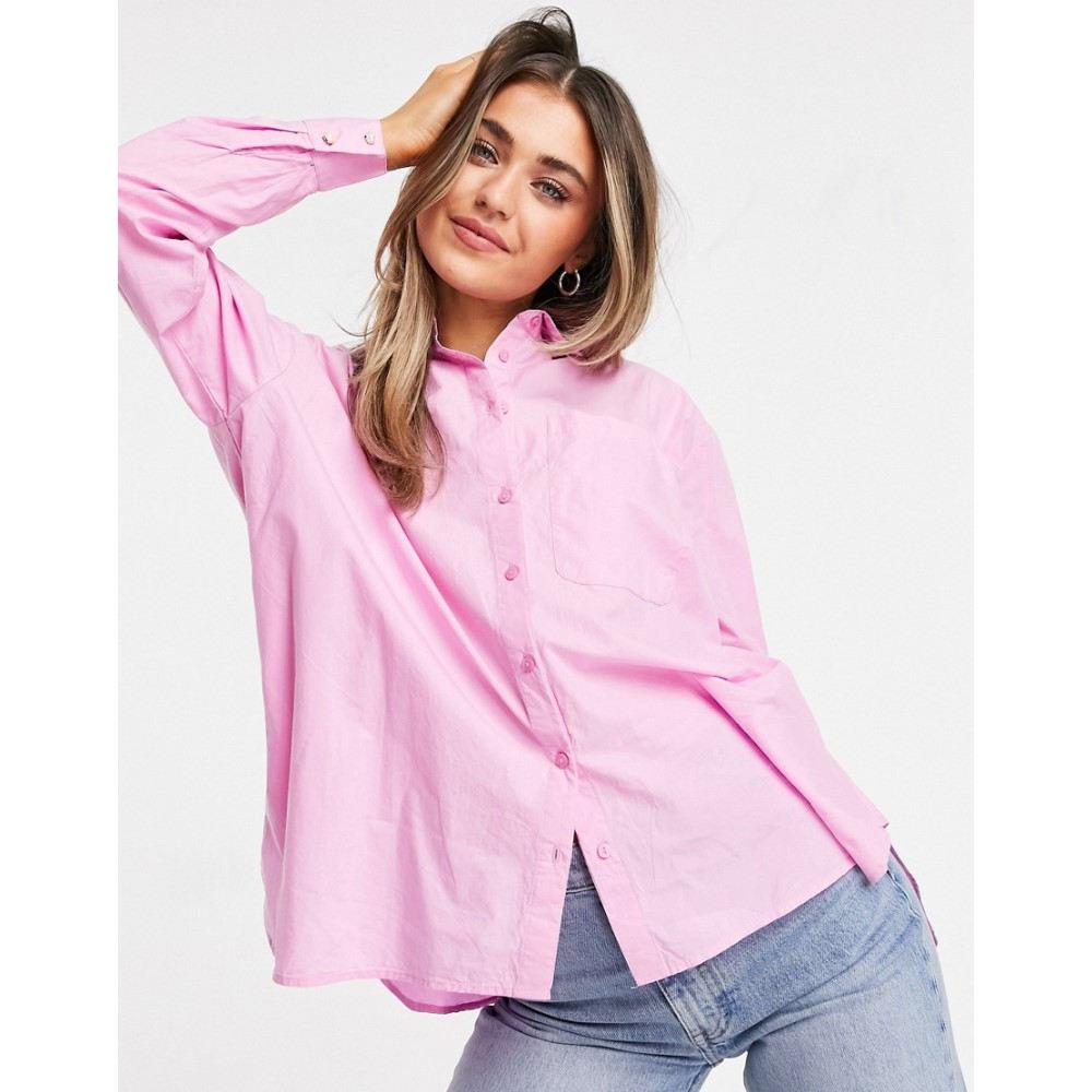 Pimkie レディース トップス【Poplin ピンキー Pink】Pink Shirt ブラウス・シャツ In
