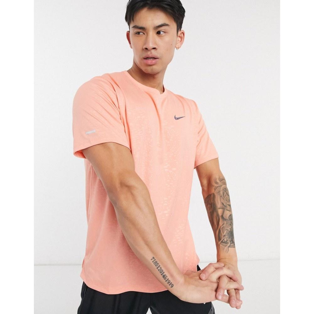 おすすめ 新作 ナイキ メンズ ランニング ウォーキング トップス Red サイズ交換無料 Nike In Tシャツ Running Miler Division Run T-Shirt
