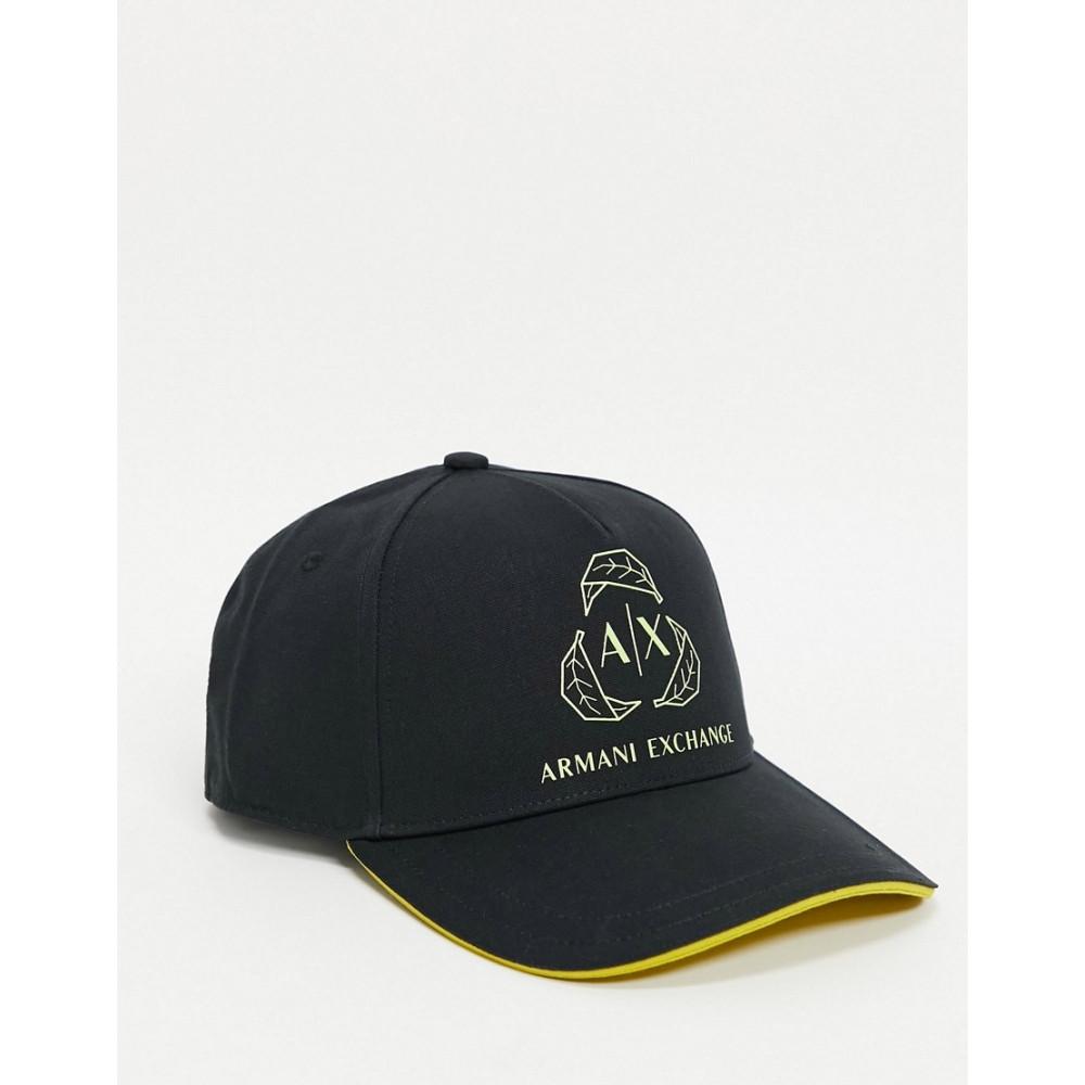 アルマーニ 正規逆輸入品 メンズ 帽子 価格 交渉 送料無料 キャップ Black サイズ交換無料 Armani black baseball logo in Exchange large cap