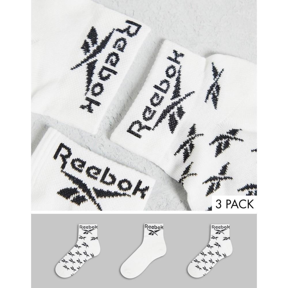 リーボック レディース インナー 下着 ソックス White 流行のアイテム Reebok 3点セット socks crew 3 in white 人気商品 pack