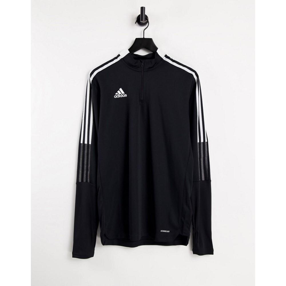 アディダス メンズ サッカー トップス Black 超目玉 サイズ交換無料 adidas performance Adidas in black 送料0円 zip quarter 21 top Tiro Football