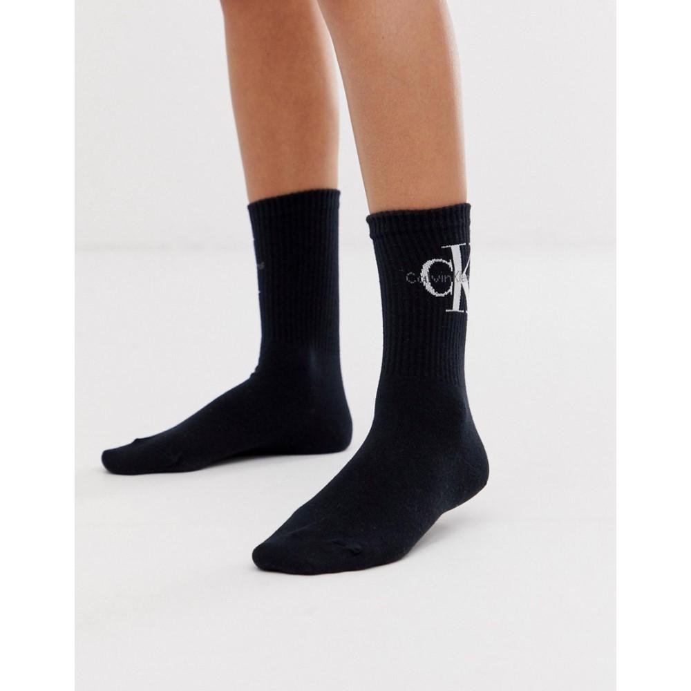 カルバンクライン レディース インナー 下着 ソックス Black Calvin Short black Jeans 新品■送料無料■ Logo in マーケティング Klein Sock