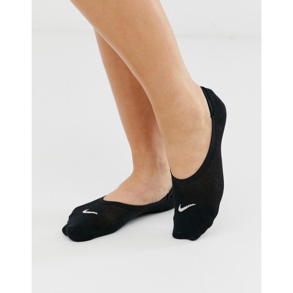 ナイキ レディース インナー 下着 おすすめ特集 ソックス Black Nike 安全 Training 3点セット footsie in 3 of socks black lightweight pack Everyday
