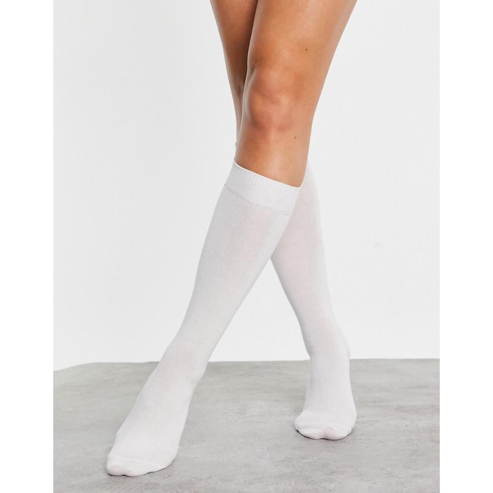 エイソス レディース インナー 下着 ソックス White Socks Knee お得 DESIGN In High お得 ASOS