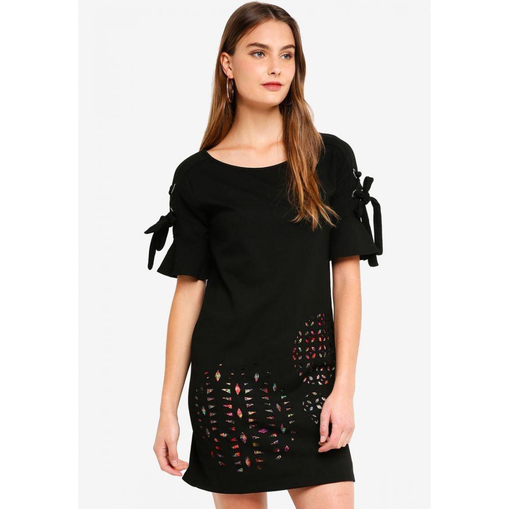【残り一点限り!】【サイズ:M】デジグアル Desigual【Alma Dress Negro】レディース ワンピース・ドレス ワンピース【あす楽】