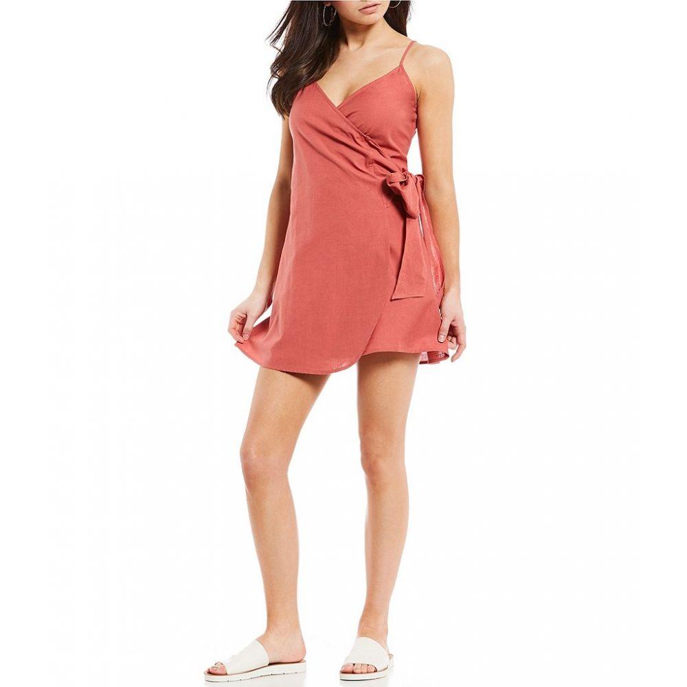 【残り一点限り!】【サイズ:M】ビラボン Billabong【Island Wrap Dress Red Clay】レディース ワンピース・ドレス ワンピース【あす楽】