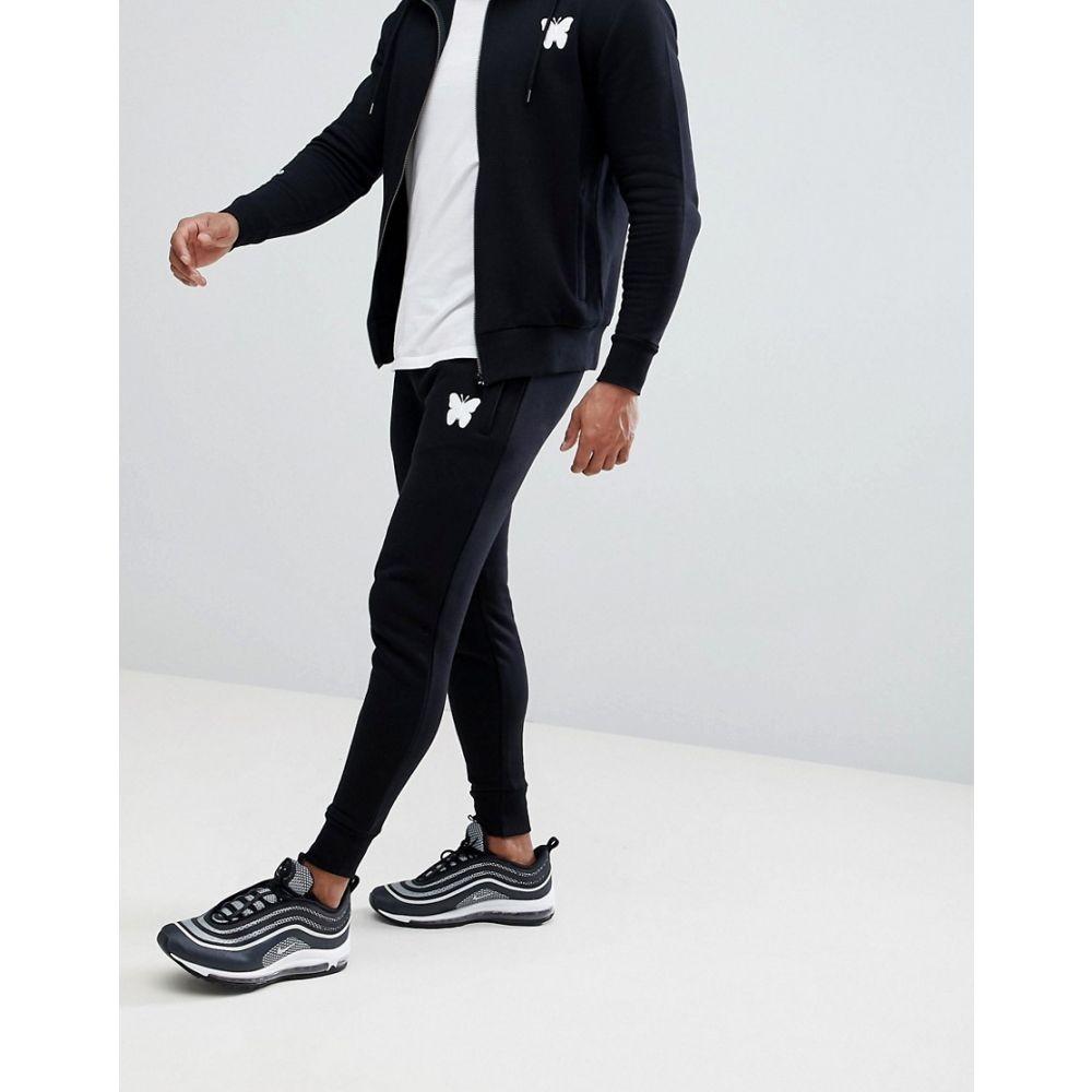 【残り一点限り!】【サイズ:S】グッドフォーナッシング Good For Nothing【muscle joggers in black with script logo exclusive to ASOS】メンズ ボトムス・パンツ ジョガーパンツ【あす楽】