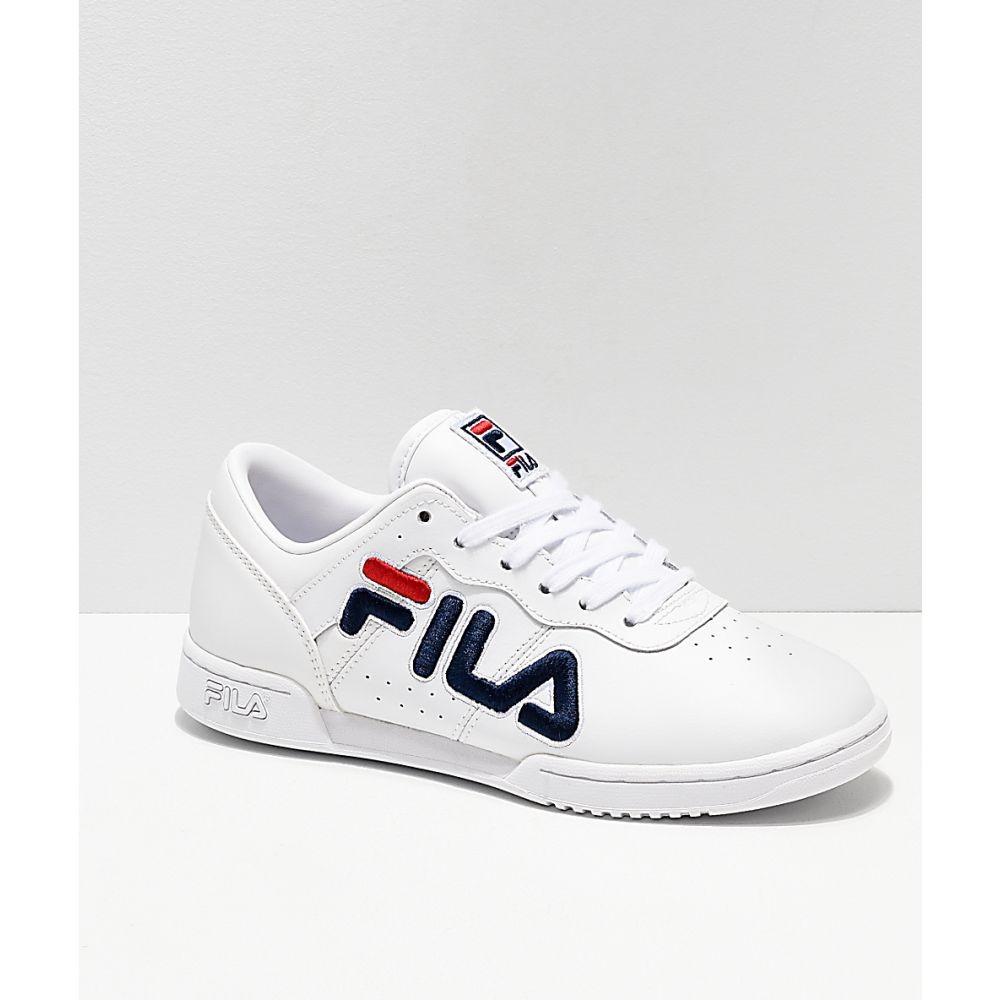 【残り一点限り!】【サイズ:UK6.5】フィラ Fila【FILA Original Fitness White & Red Shoes White】レディース フィットネス・トレーニング シューズ・靴【あす楽】