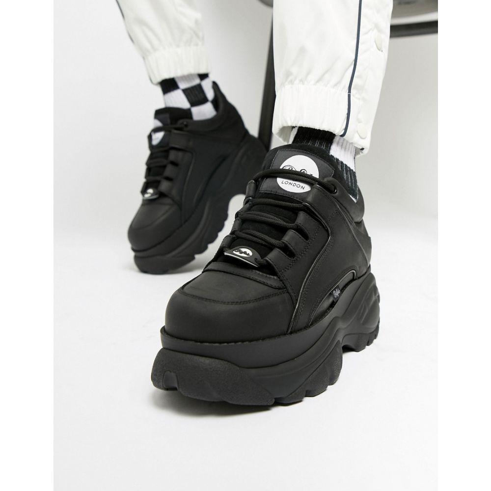 【残り一点限り!】【サイズ:UK10.5】バッファロー Buffalo【Classic chunky sole trainers in black】メンズ シューズ・靴 スニーカー【あす楽】