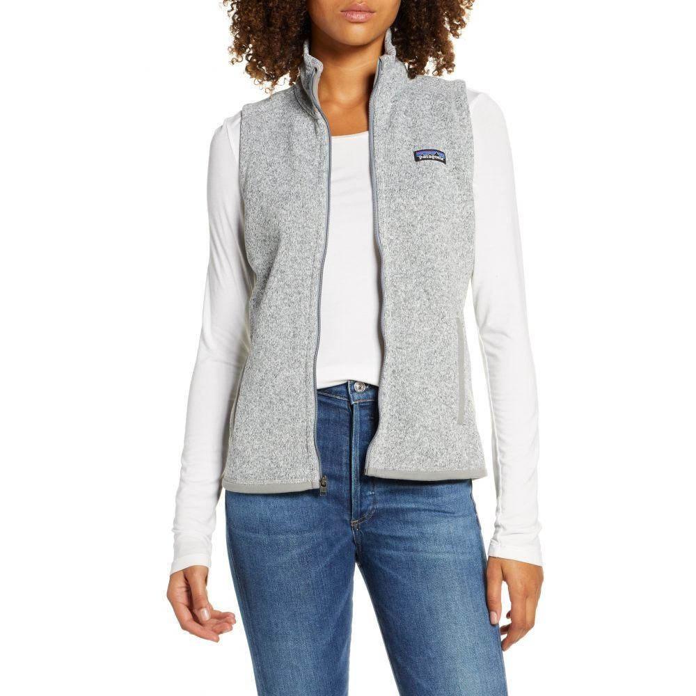 【残り一点限り!】【サイズ:M】パタゴニア Patagonia【PATAGONIA better sweater zip vest Birch White】レディース トップス ベスト・ジレ【あす楽】