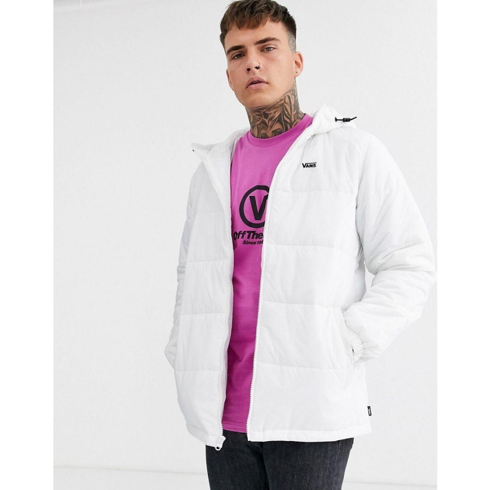 【残り一点限り!】【サイズ:2XL】ヴァンズ Vans【small logo puffer jacket in white】メンズ アウター ダウン・中綿ジャケット【あす楽】