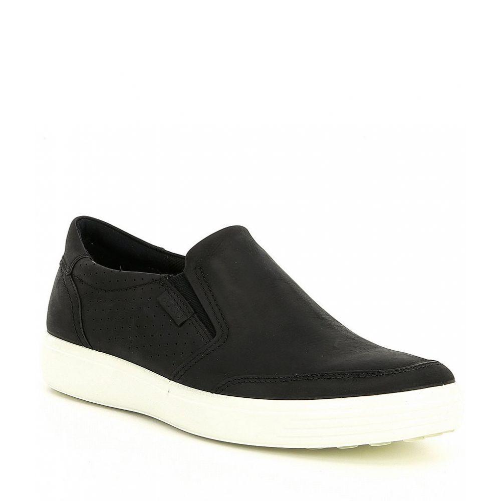 【残り一点限り!】【サイズ:EU45(11/11.5M)】エコー Echo【ECCO Soft 7 Slip On Sneaker Black】メンズ シューズ・靴 スリッポン・フラット【あす楽】
