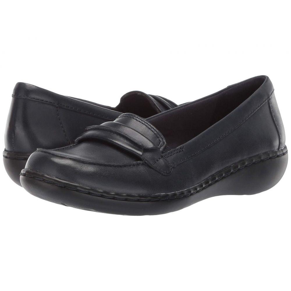 【残り一点限り!】【サイズ:サイズ 7xC-WIDE】クラークス Clarks【Ashland Lily Navy Leather】レディース シューズ・靴 ローファー・オックスフォード【あす楽】