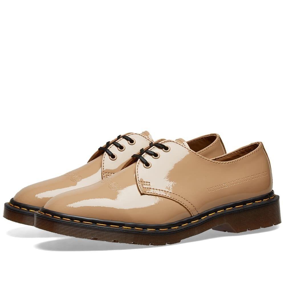【残り一点限り!】【サイズ:UK9】ドクターマーチン Dr Martens【Dr. Martens x Undercover 1461 Shoe Beige Patent】メンズ シューズ・靴【あす楽】
