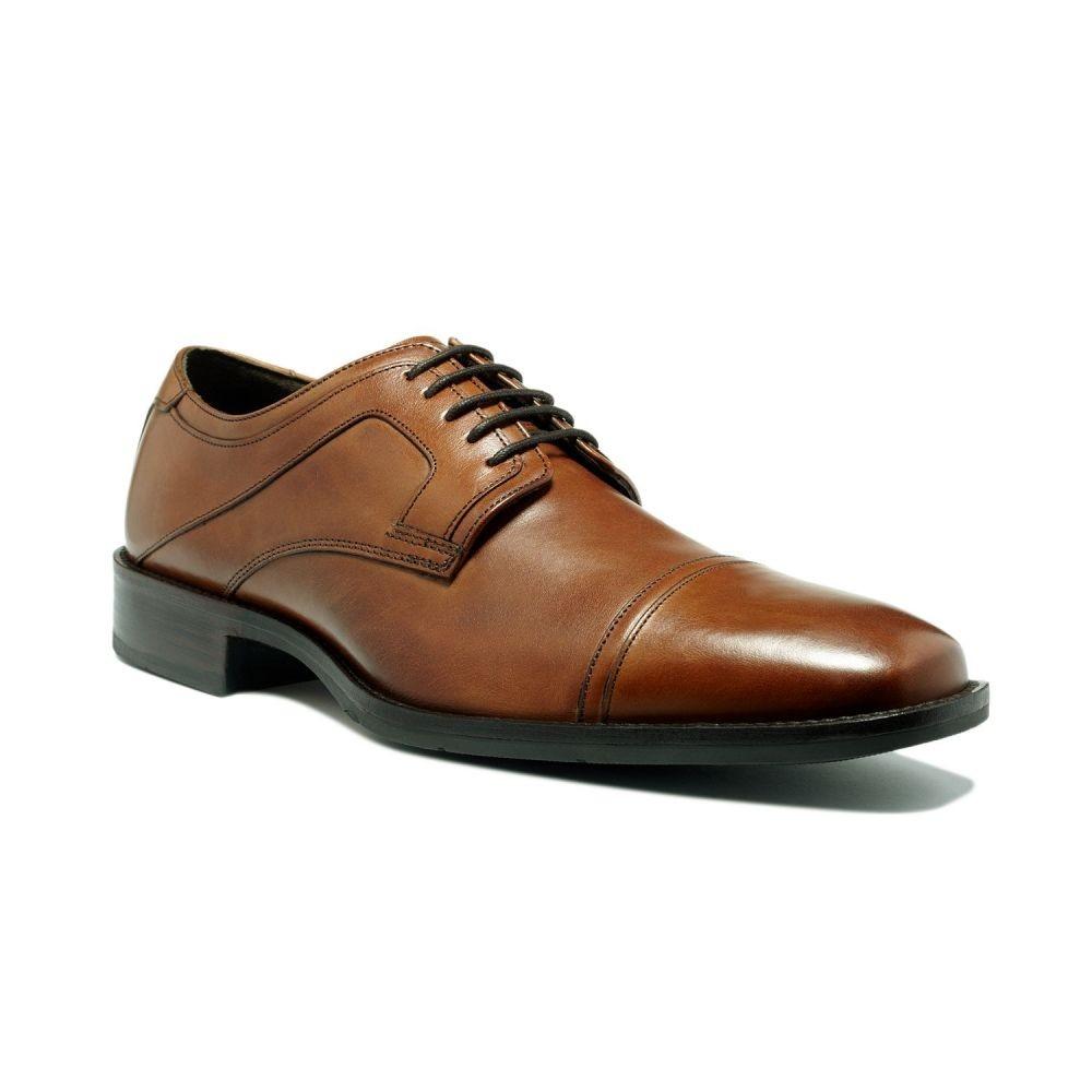 【残り一点限り!】【サイズ:10】ジョンストン&マーフィー Johnston & Murphy【Larsey Cap-Toe Oxford Tan】メンズ シューズ・靴 革靴・ビジネスシューズ【あす楽】