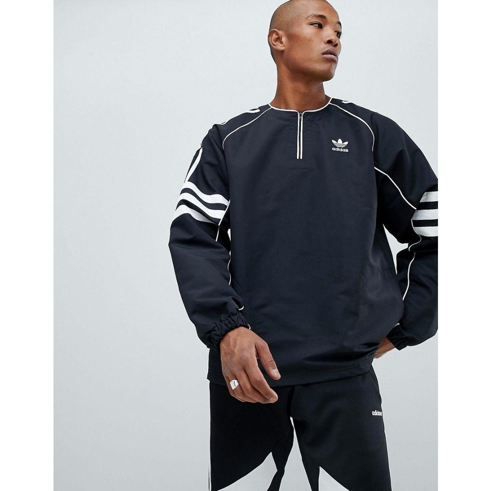 【残り一点限り!】【サイズ:M】アディダス adidas Originals【Authentic Half Zip Top In Black DH3837】メンズ トップス【あす楽】