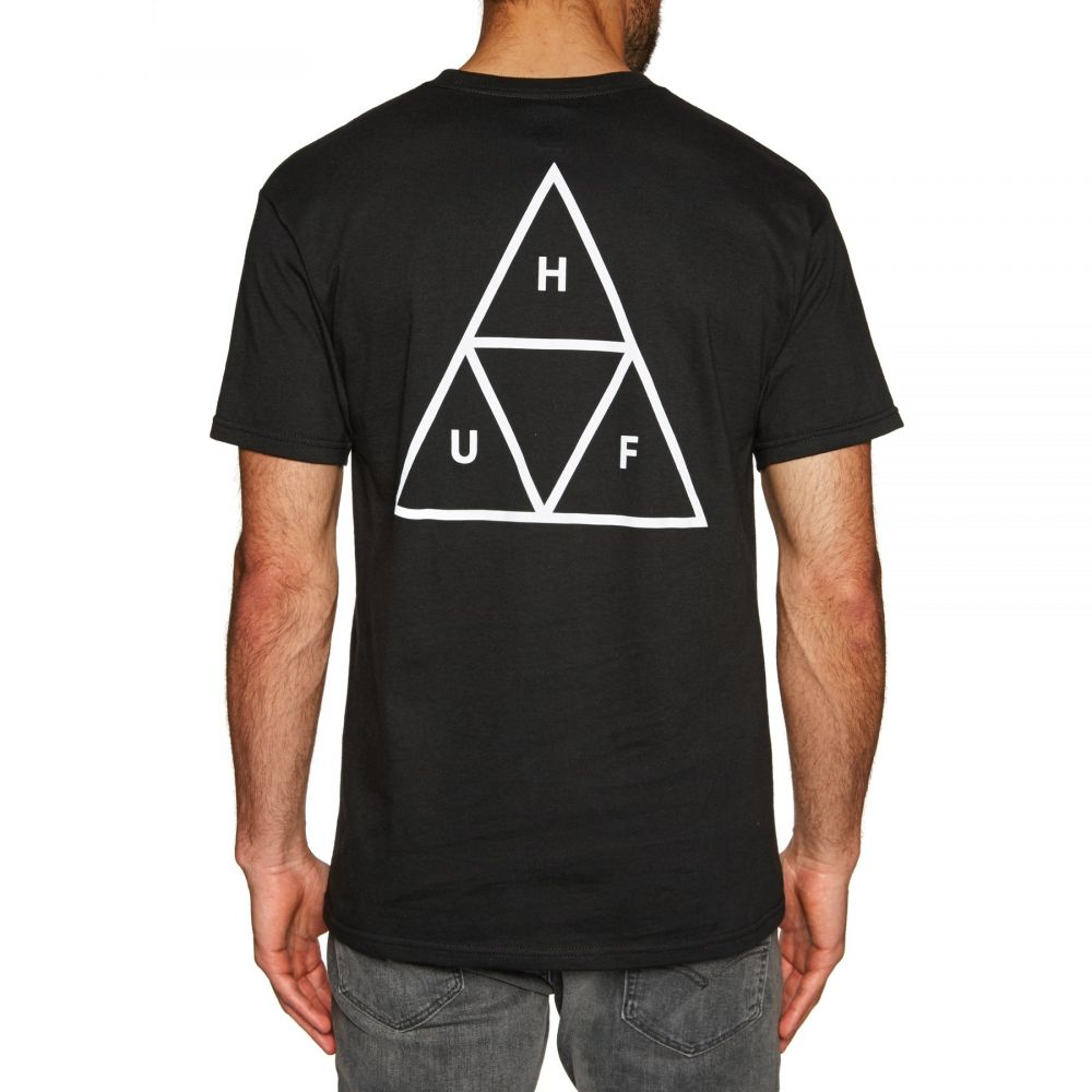 ハフ Huf メンズ トップス Tシャツ【Essentials Triple Triangle Short Sleeve T-Shirt】Black