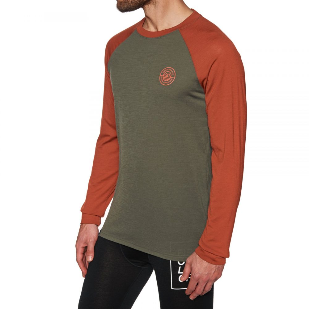 モンスロイヤル Mons Royale メンズ トップス【Icon Raglan Long Sleeve Base Layer Top】Clay Olive