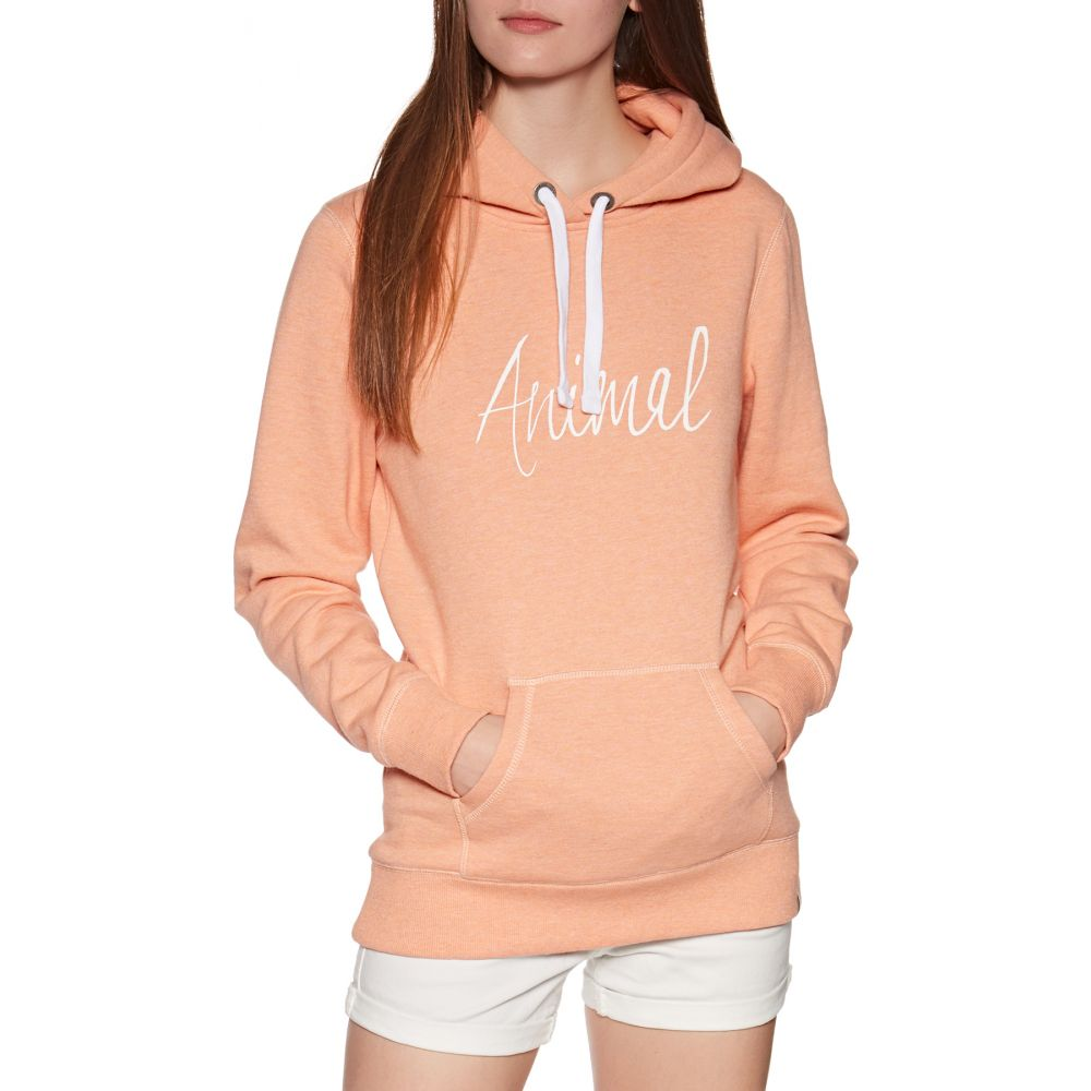 アニマル Animal レディース パーカー トップス【sketched pullover hoody】Canyon Sunset Orange Marl