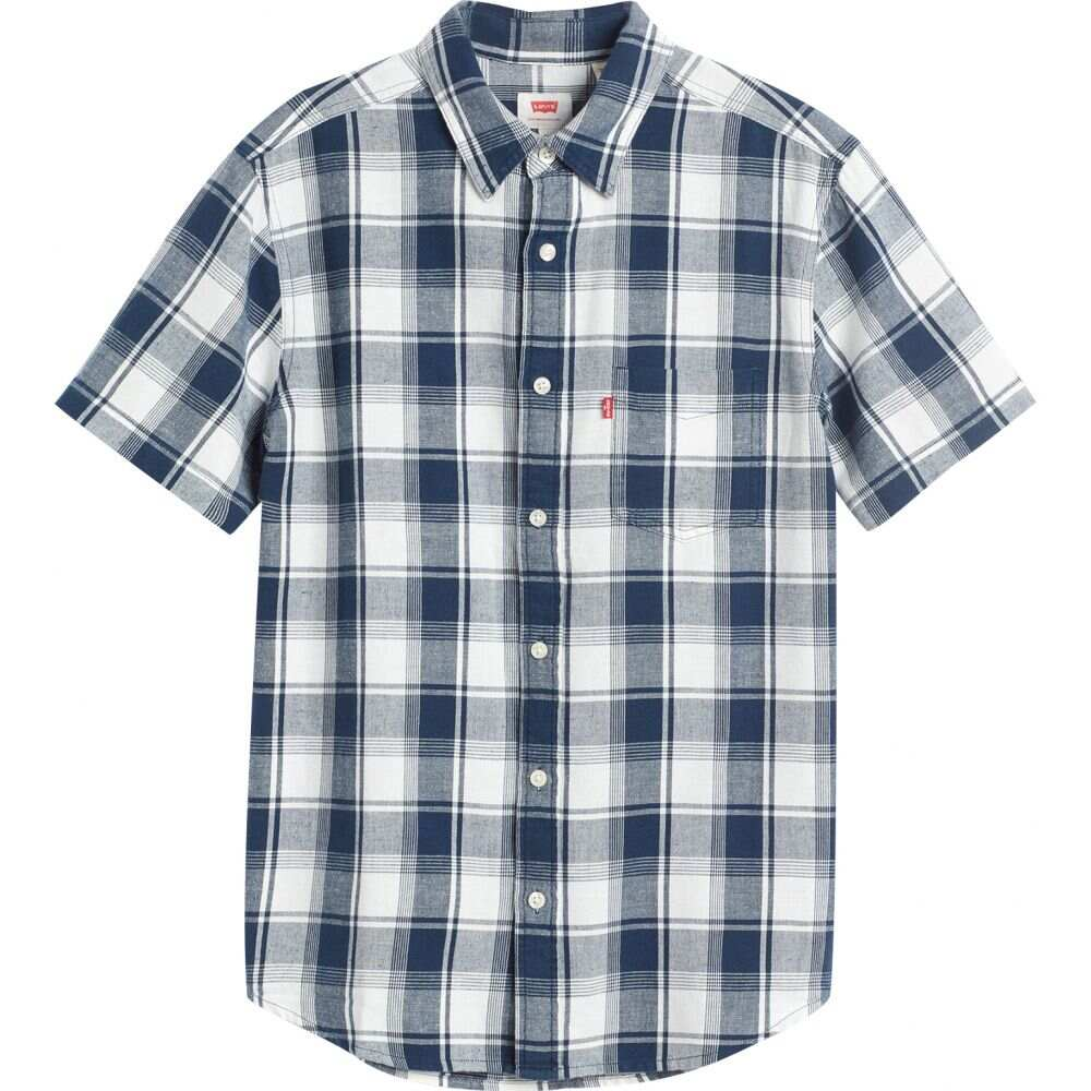 リーバイス Levi's メンズ 半袖シャツ トップス【classic pocket standard short sleeve shirt】Alonzo Dress Blues