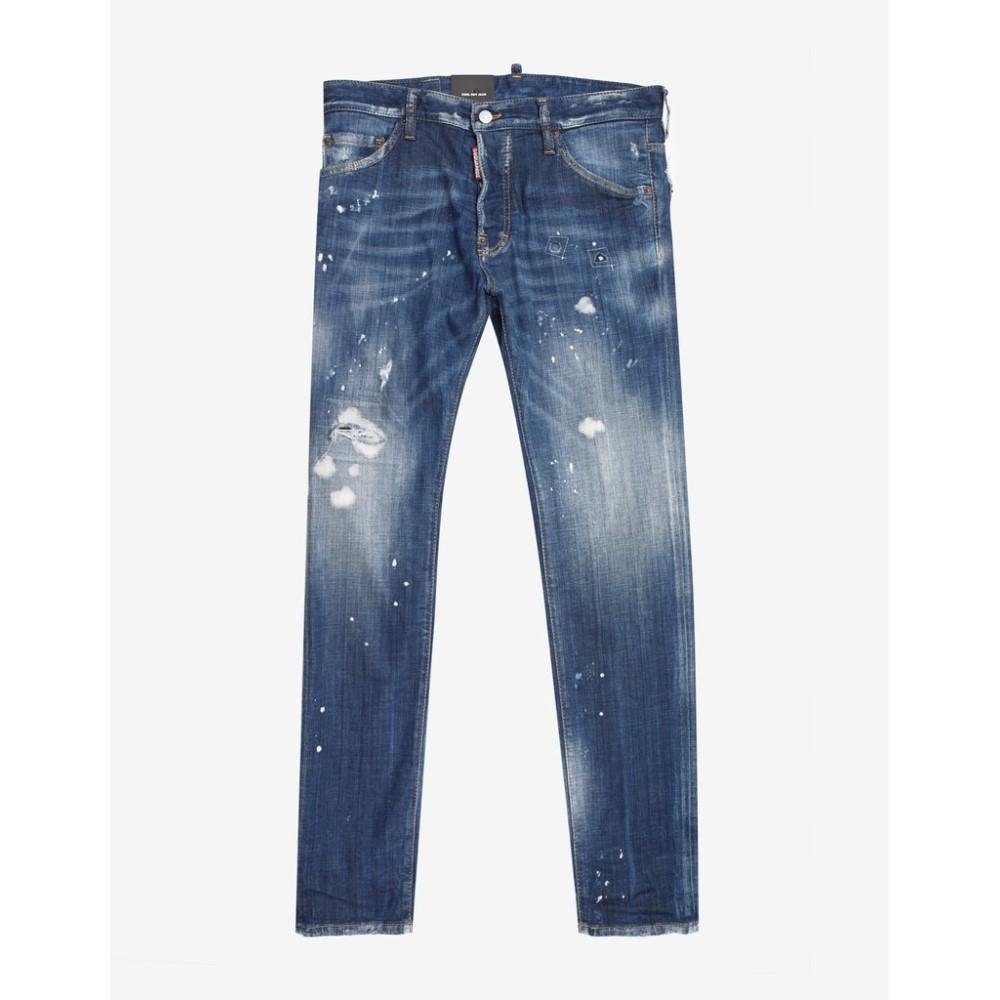 ディースクエアード Dsquared2 メンズ ボトムス・パンツ ジーンズ・デニム【Paint Splatter Distressed Cool Guy Jeans】Blue