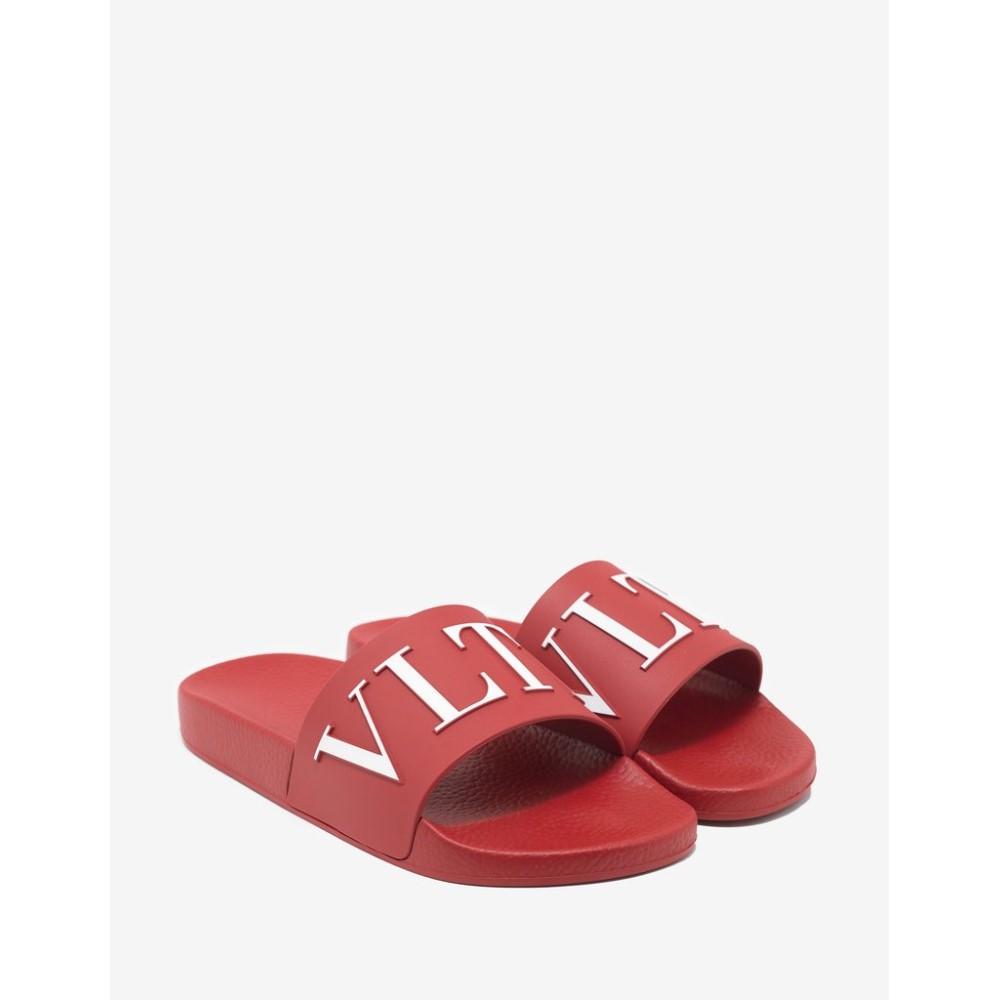 ヴァレンティノ Valentino Valentino Garavani メンズ シューズ・靴 サンダル【VLTN Slide Garavani Slide Sandals】Red, 石田スポーツ:34faafc8 --- sunward.msk.ru