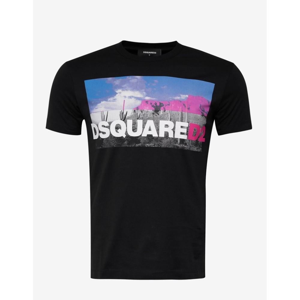 ディースクエアード Dsquared2 メンズ トップス Tシャツ【Desert Print T-Shirt】Black