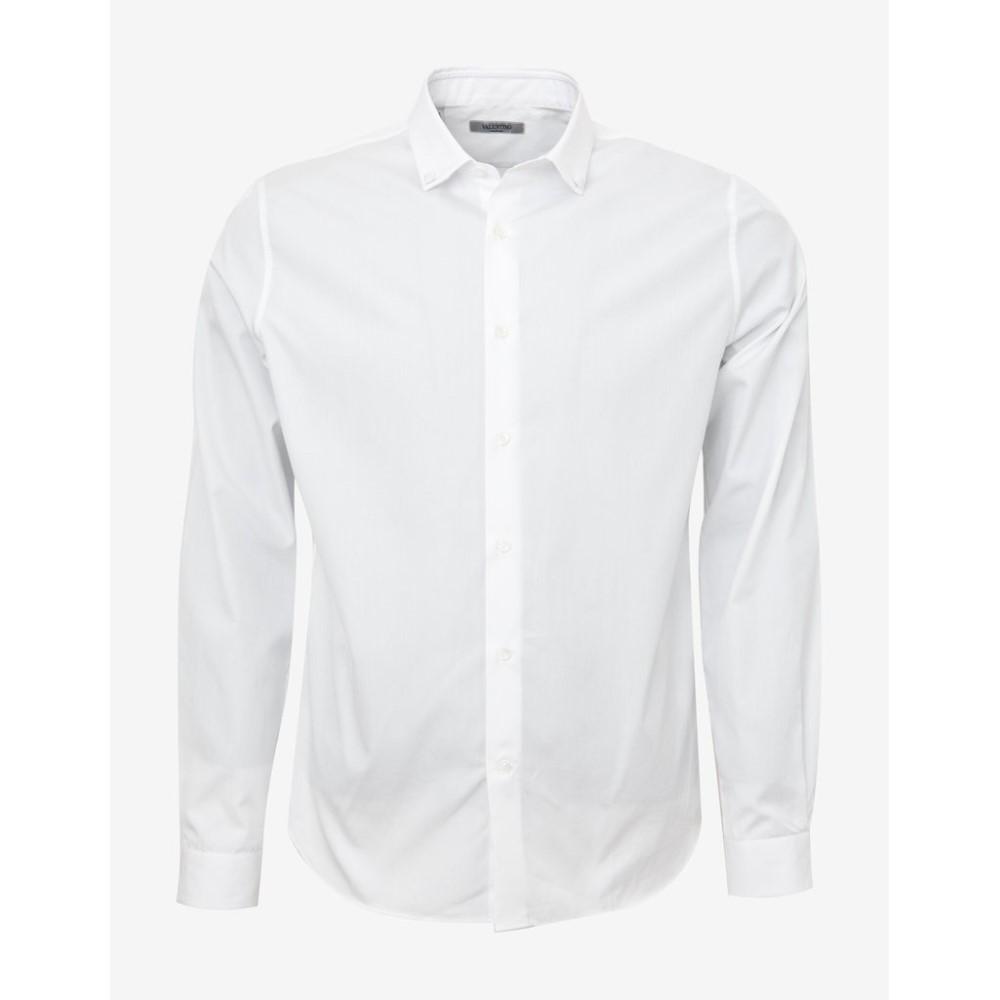 ヴァレンティノ Valentino メンズ トップス シャツ【Shirt with Studded Collar】White