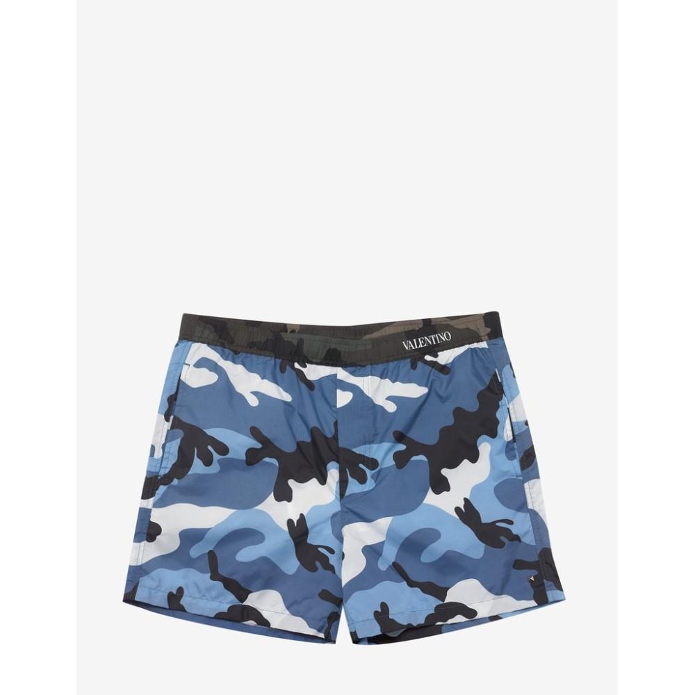 ヴァレンティノ Valentino メンズ 水着・ビーチウェア 海パン【Light Camouflage Print Swim Shorts】Blue