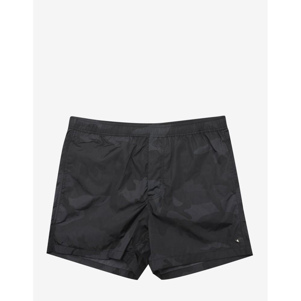 ヴァレンティノ Valentino メンズ 水着・ビーチウェア 海パン【Camo Print Swim Shorts】Black