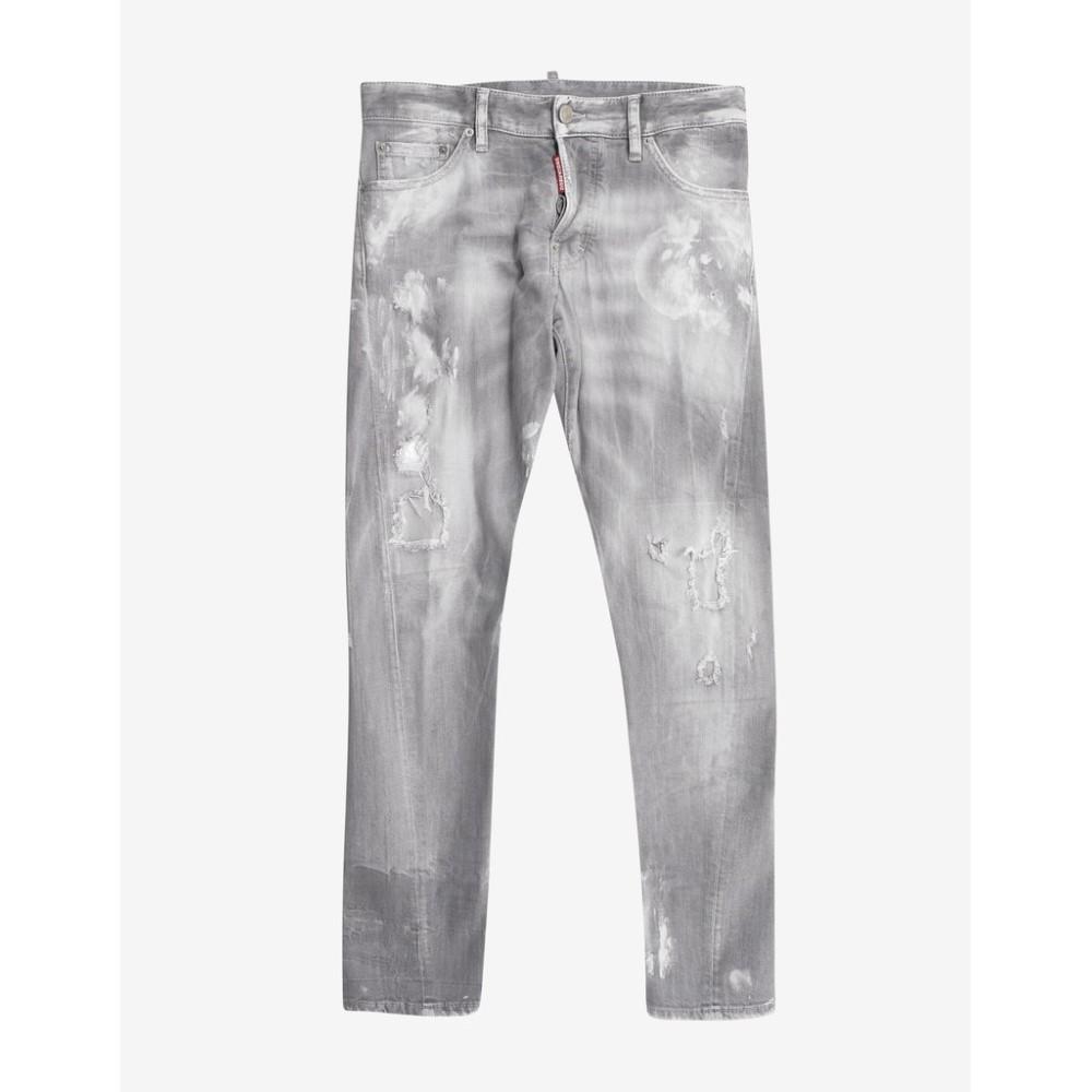 ディースクエアード Dsquared2 メンズ ボトムス・パンツ ジーンズ・デニム【Distressed Denim Sexy Twist Jeans】Grey