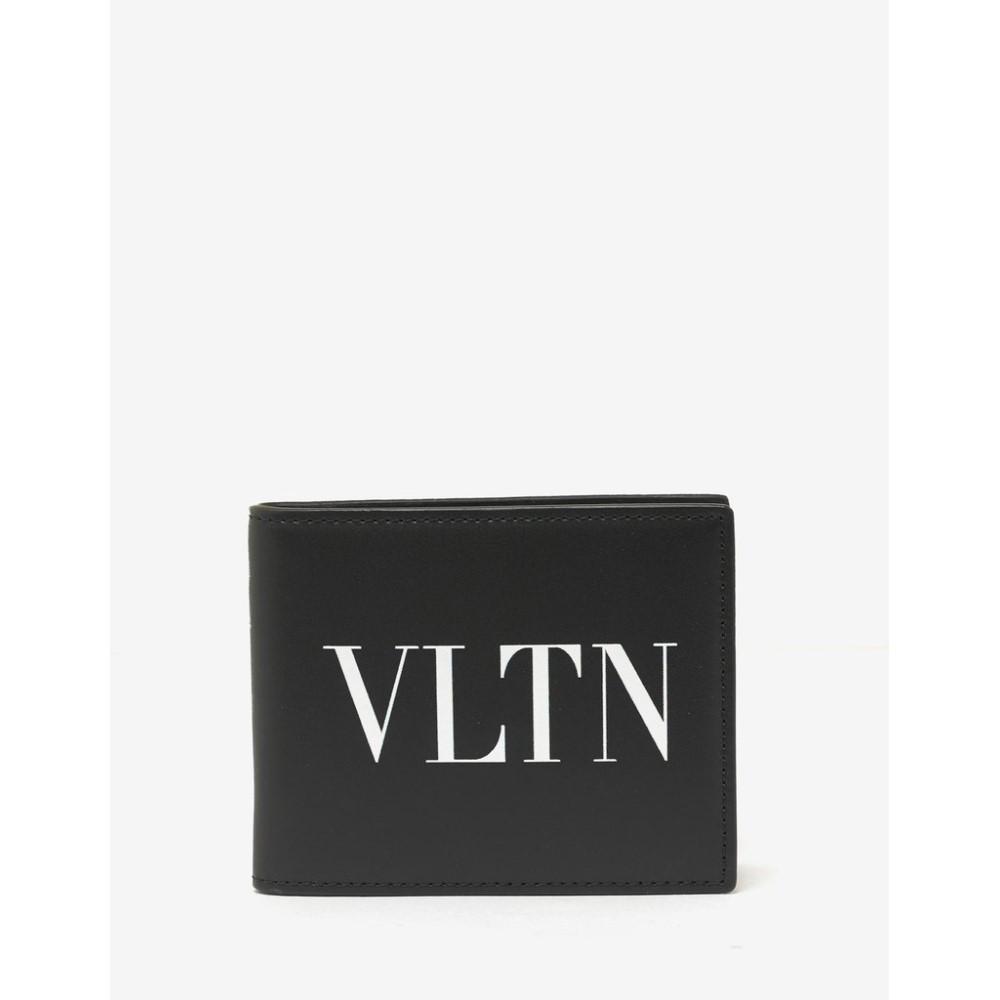 ヴァレンティノ Valentino Garavani メンズ 財布【Leather VLTN Billfold Wallet】Black