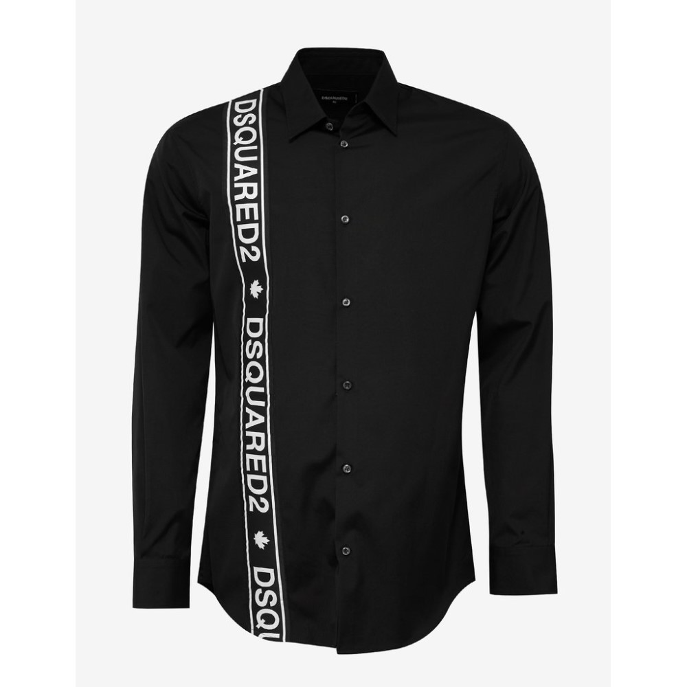 ディースクエアード Dsquared2 メンズ トップス シャツ【Logo Trim Shirt】Black