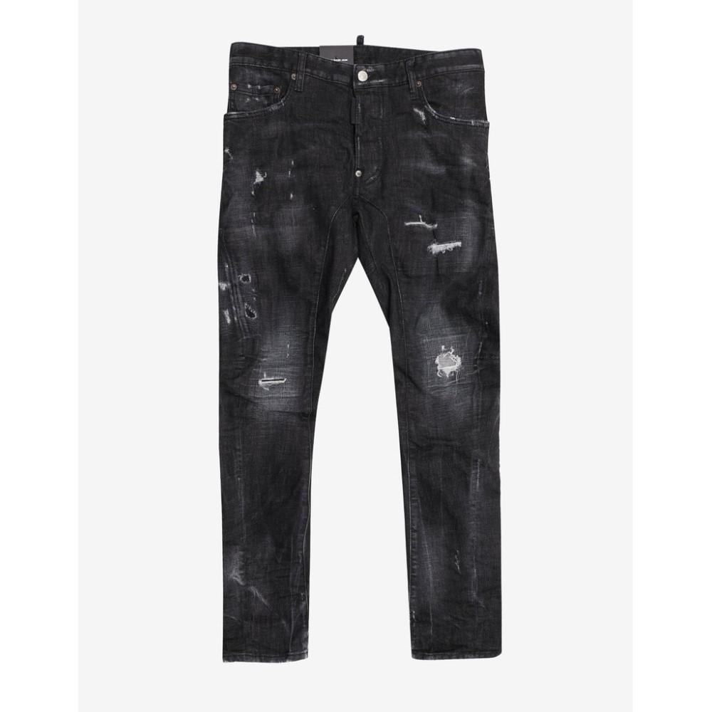 ディースクエアード Dsquared2 メンズ ボトムス・パンツ ジーンズ・デニム【Distressed Tidy Biker Jeans】Black
