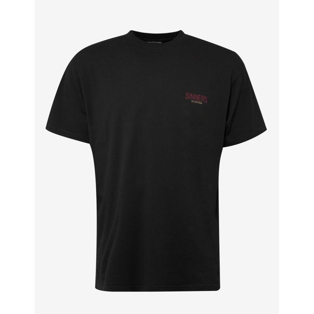 バレンシアガ Balenciaga メンズ トップス Tシャツ【Sinners Print Oversized T-Shirt】Black