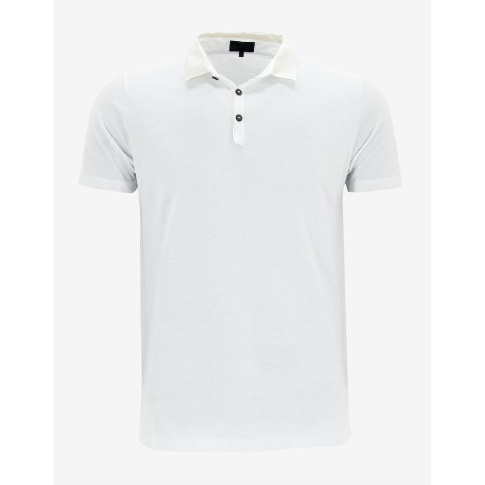 ランバン Lanvin メンズ トップス ポロシャツ【Polo T-Shirt with Grosgrain Collar】White