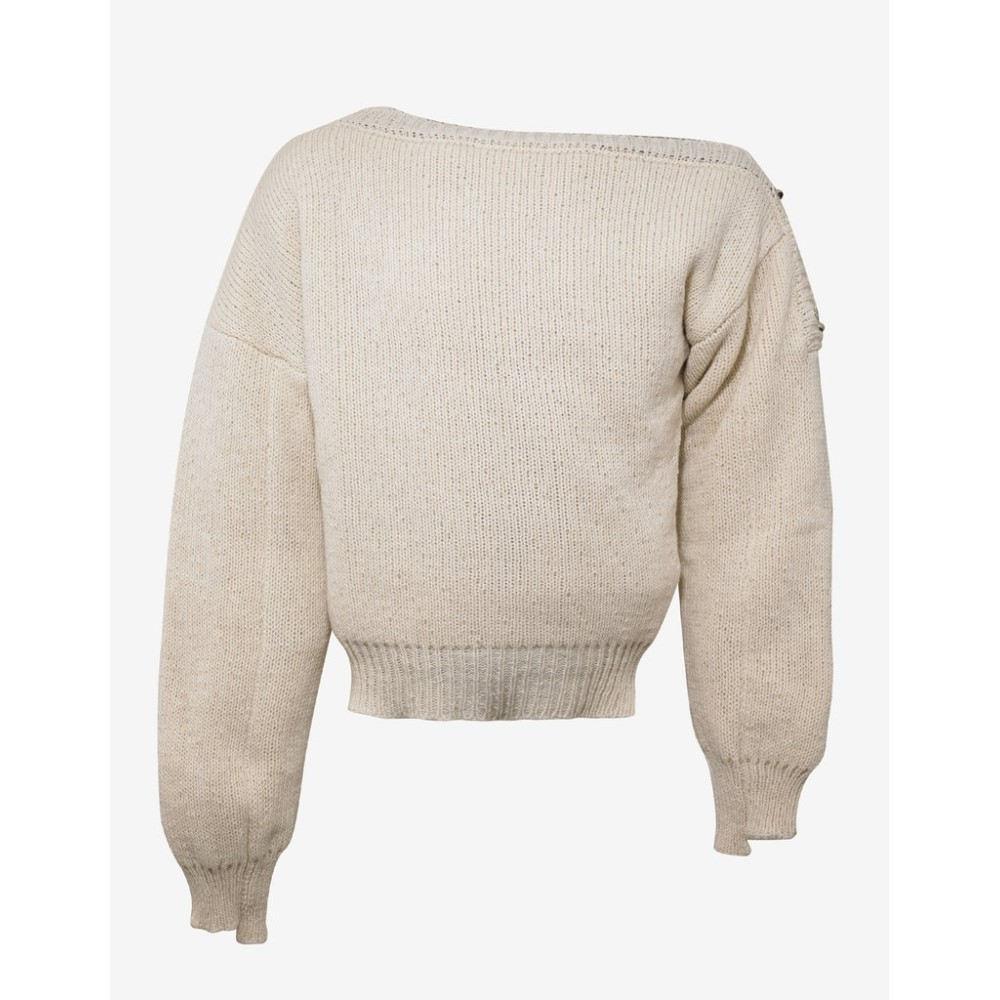 ラフ シモンズ Raf Simons メンズ トップス ニット・セーター【Off- Oversized Sweater with Fireman Buckle】White
