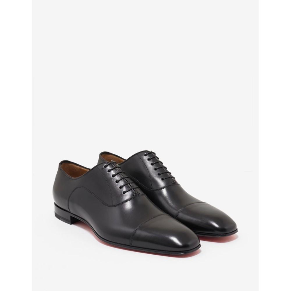 クリスチャン ルブタン Christian Louboutin メンズ シューズ・靴 革靴・ビジネスシューズ【Greggo Flat Leather Oxford Shoes】Black
