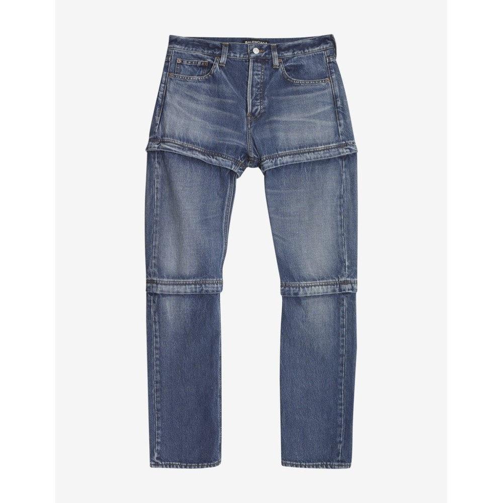 バレンシアガ Balenciaga メンズ ボトムス・パンツ ジーンズ・デニム【Zipped Jeans】Blue