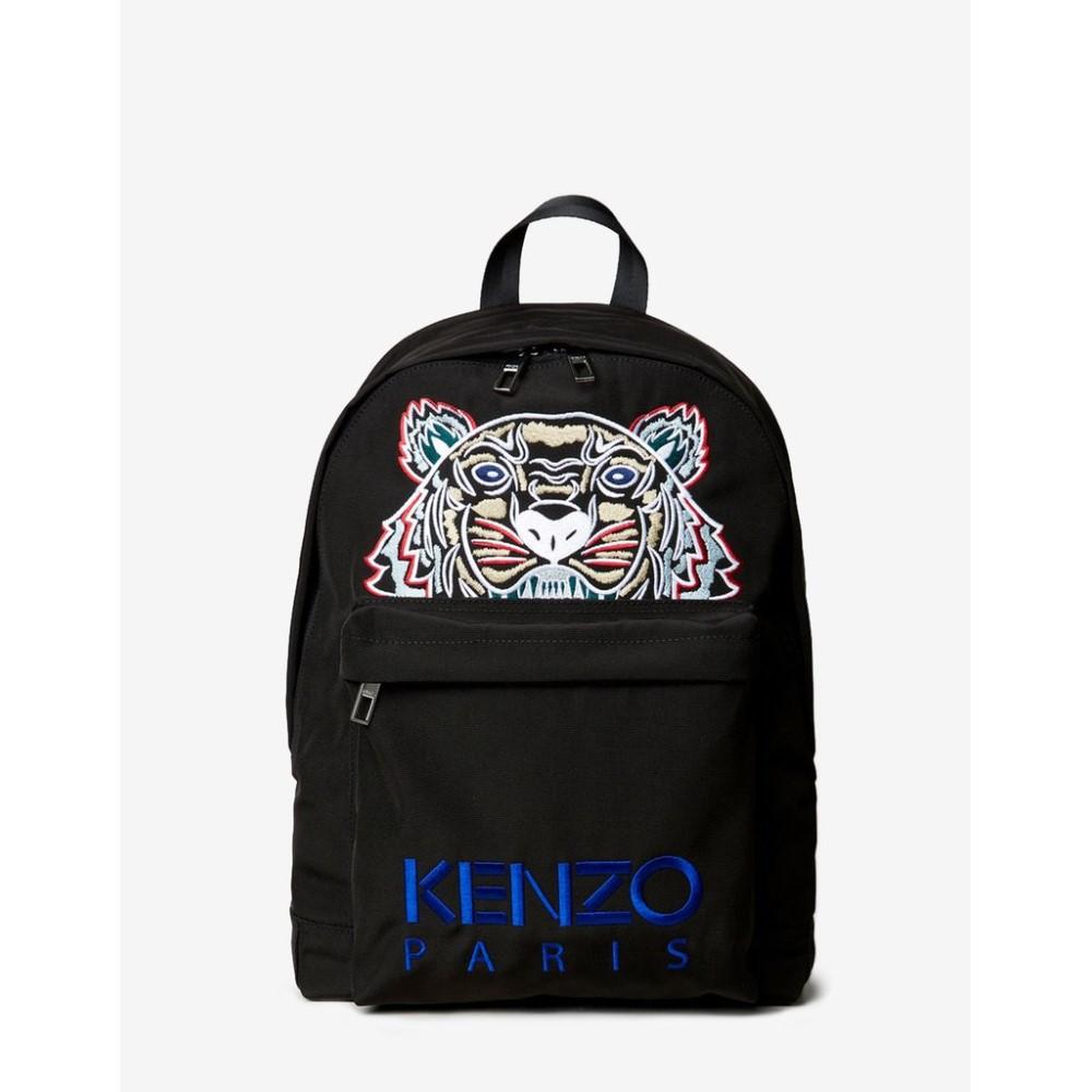 ケンゾー Kenzo メンズ バッグ バックパック・リュック【Contrast Tiger Canvas Large Backpack】Black