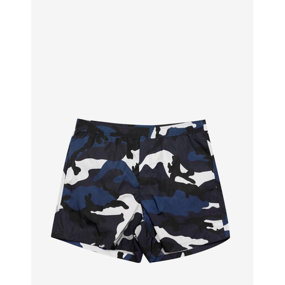 【名入れ無料】 ヴァレンティノ Valentino メンズ 水着 Swim・ビーチウェア メンズ 海パン【Navy & ヴァレンティノ White Camouflage Print Swim Shorts】Blue, Used & Vintage 驚屋70:38823128 --- totem-info.com