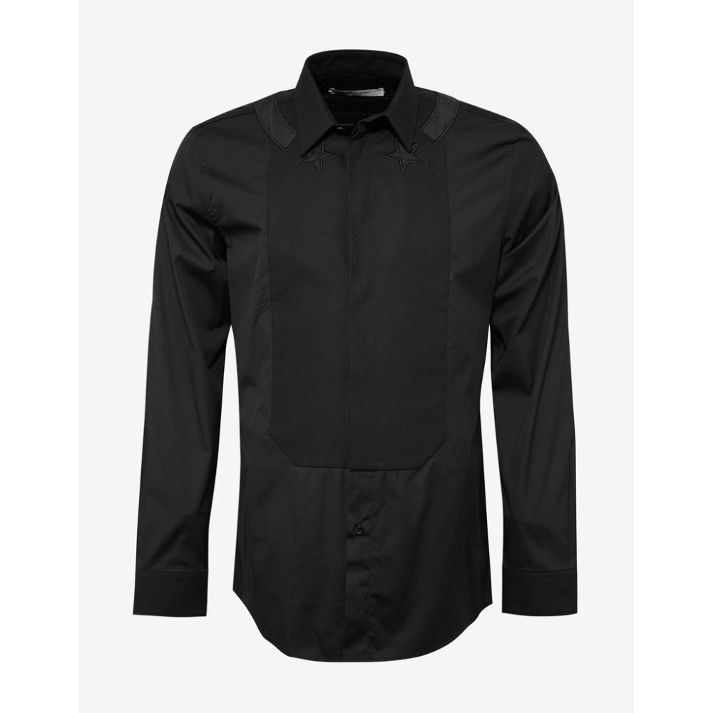 ジバンシー Givenchy メンズ トップス シャツ【Stars & Band Contemporary Fit Shirt with Bib】Black