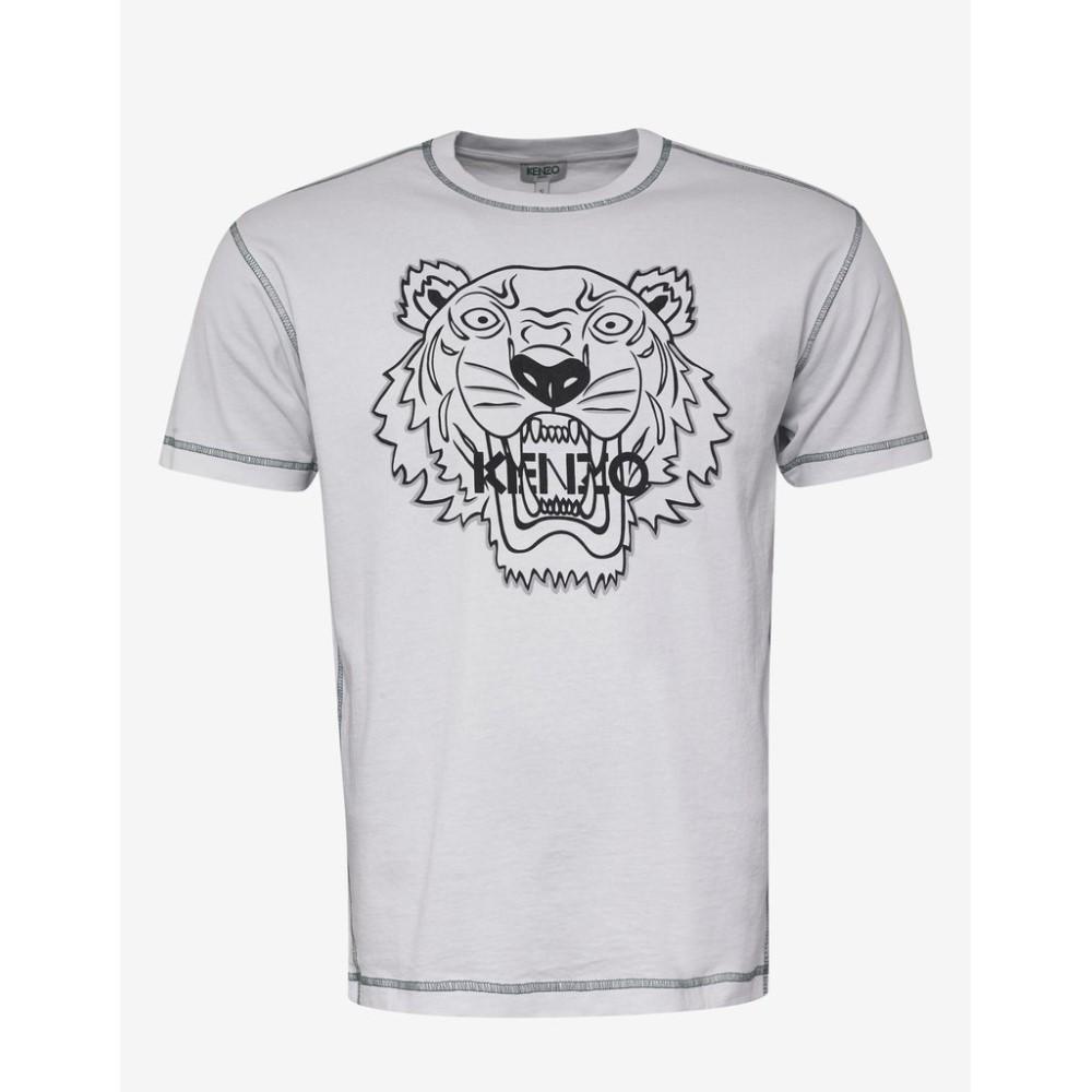 ケンゾー Kenzo メンズ トップス Tシャツ【Tiger T-Shirt with Topstitching】White