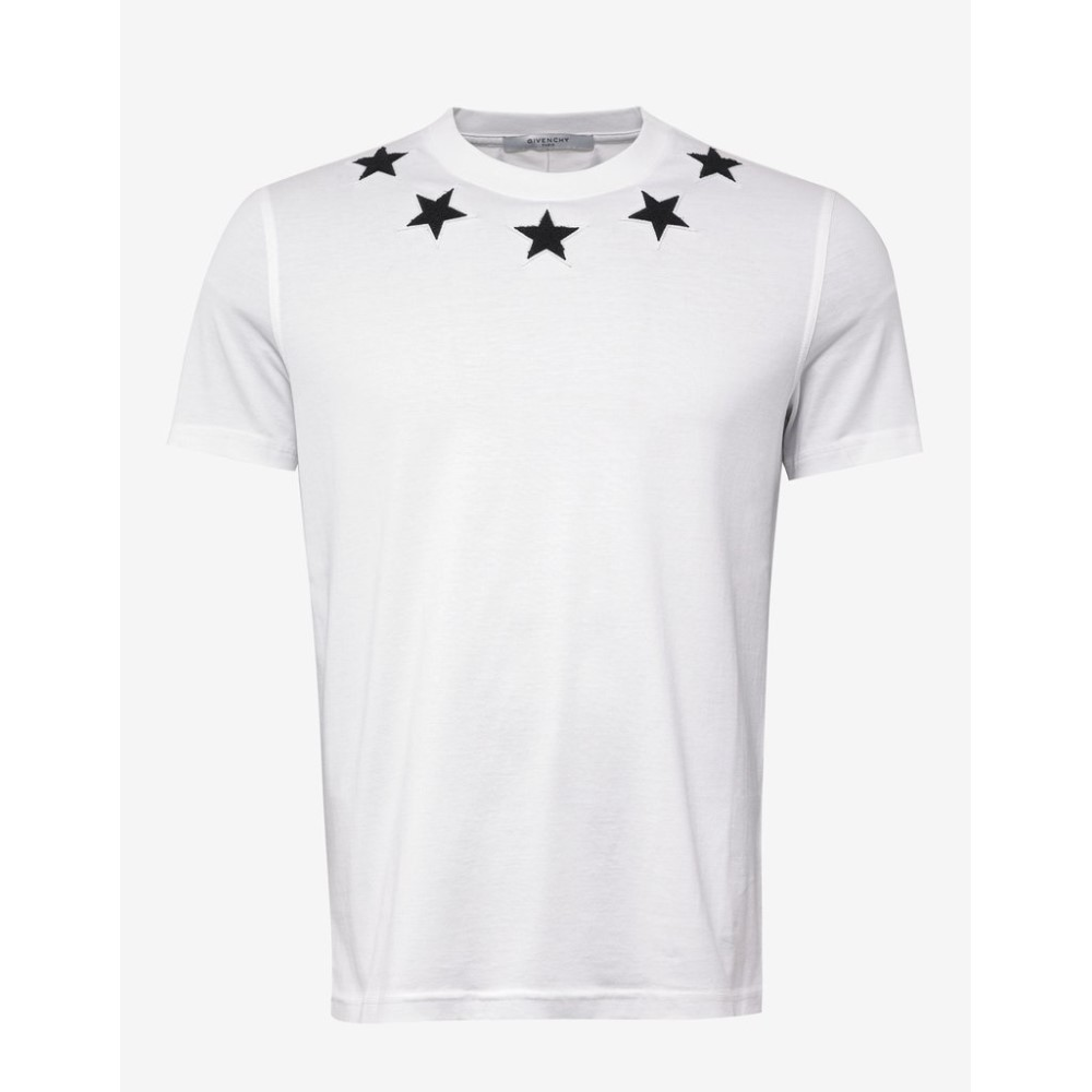 ea4a7ad97e3 ジバンシー Givenchy メンズ トップス Tシャツ【White Cuban Fit T-Shirt with Stars】