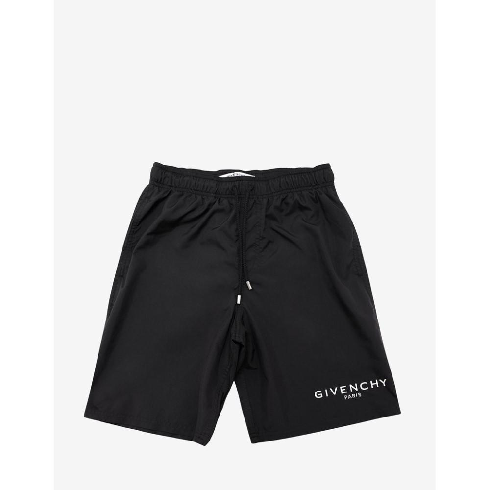 ジバンシー Givenchy メンズ 水着・ビーチウェア 海パン【Classic Logo Print Swim Shorts】Black
