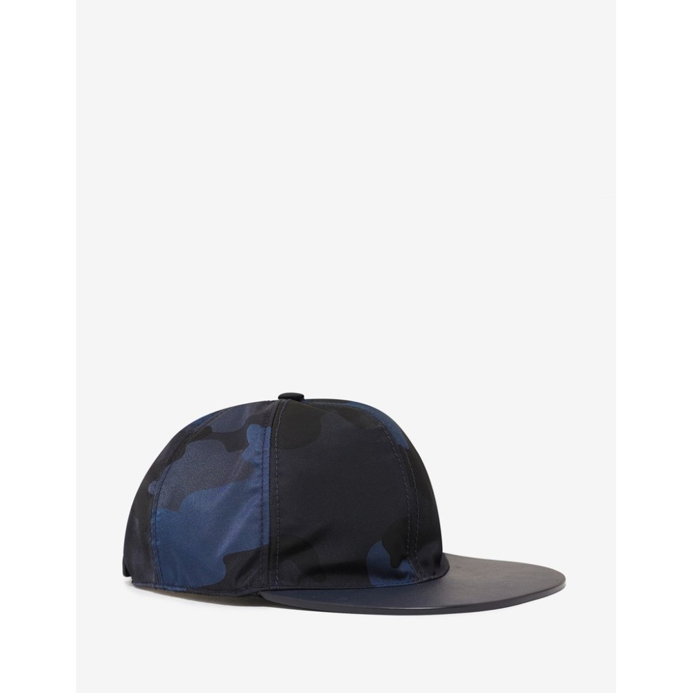 ヴァレンティノ Valentino Garavani メンズ 帽子 キャップ【Navy Camouflage Cap】Blue