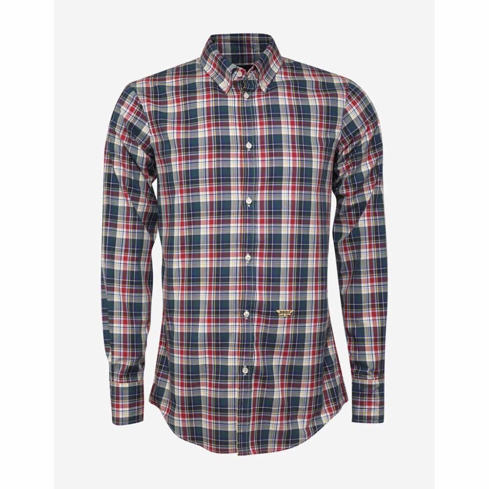 ディースクエアード Dsquared2 メンズ トップス シャツ【Multi-Check Shirt】Green/Red/White