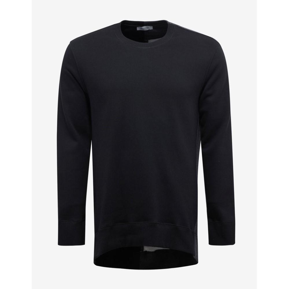 ヴァレンティノ Valentino メンズ トップス スウェット・トレーナー【Jamie Reid Print Longline Sweatshirt】Black